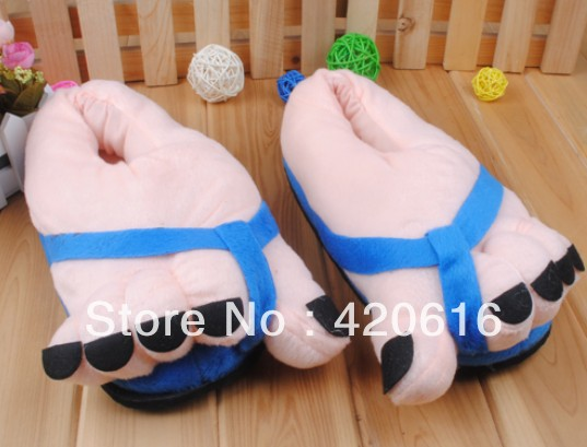 c65271d6f Funny winter women's mens' Indoor House Big Toes Feet Warm Soft Slippers  Home Shoes Freeshipping 4Colors Wholesale -in Slippers from Shoes on  Aliexpress.com ...