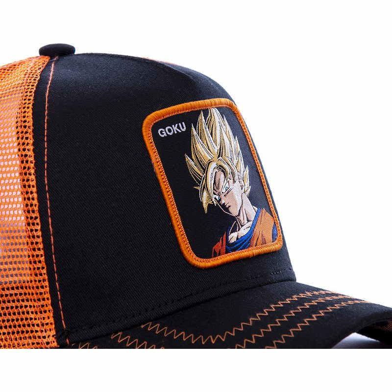 ใหม่ยี่ห้อ Goku Super 12 รูปแบบ Dragon Ball Snapback เบสบอลหมวกผู้ชายผู้หญิง Hip Hop พ่อตาข่ายหมวก Trucker หมวก Dropshipping