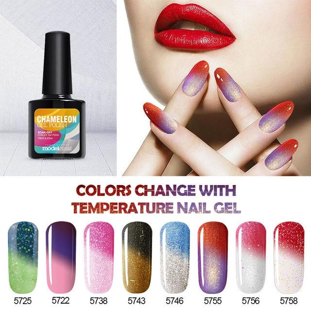Modelones 10ML Thermo Temperature Change Color UV Nail Gel Polish High Quality DIY Art