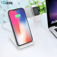 DCAE Qi Wireless Charger for Apple Watch 2 3 4 iWatch iPhone XS Max XR X 8 Samsung S9 S8 10W Fast Wireless Charging Phone Holder