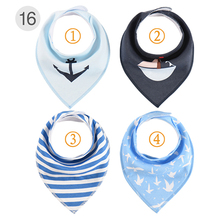 Baby Feedings Bandana 4pcs/Lot Cotton Newborn Infant Bibs Burp Cloths For Toddler Boy Girl Fashion Scarf Feeding Saliva Towels
