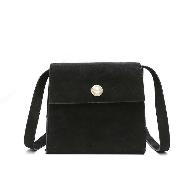 3fd1a7a283bf Ladies Suede Shoulder Messenger Fashion Black Small Bag Female Cute Side  Girl Luxury Flap Crossbody Bags For Women 2018 Designer