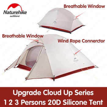 Naturehike New Upgrade CloudUp Series 1 2 3 Persons Ultralight 20D Silicone Double Layer Camping Tent With Mat NH17T001-T - DISCOUNT ITEM  25% OFF All Category