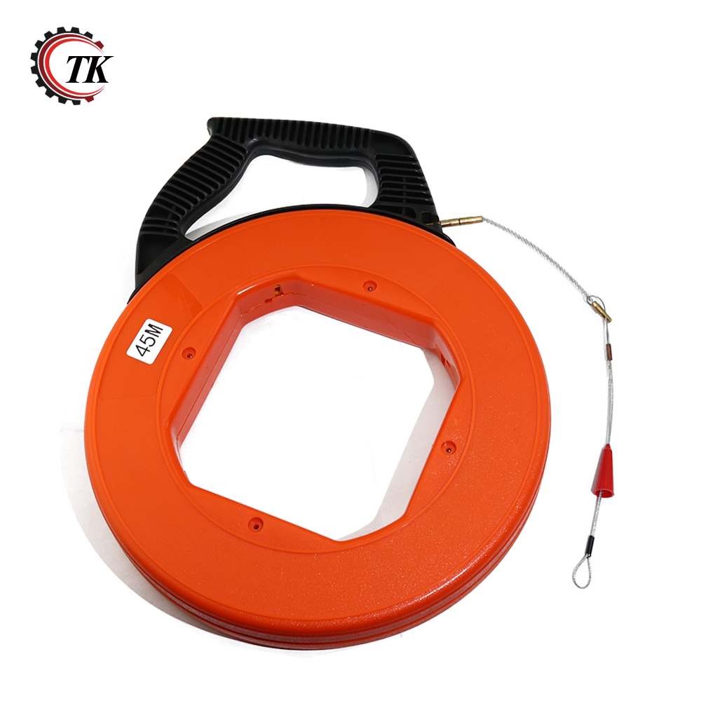 45m(98.4FT) Non-conductive Fiberglass Electrical Fish Tape Reel, Great for Pull Line Conduit Ducting Rodder Pullining Wire Cable45m(98.4FT) Non-conductive Fiberglass Electrical Fish Tape Reel, Great for Pull Line Conduit Ducting Rodder Pullining Wire Cable