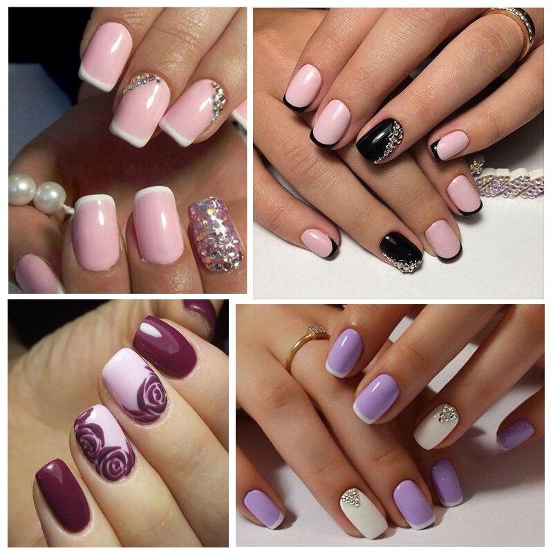 Perfect Summer 2 Colors Nail UV Gel Polish Black and Glitter Nail ...