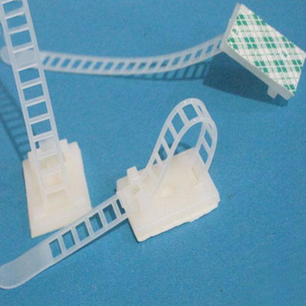 20pcs Self adhesive Nylon plastic Cable Ties 85mm Zip Ties ...