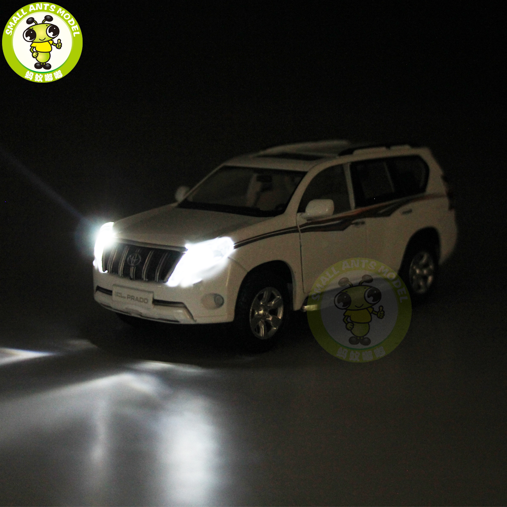 1 32 toyota land cruiser prado diecast suv car model toys sound lighting pull back