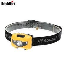 Brightfire 2 Red LED+ 1 White LED 3W 150 LM Mini Headlamp 4 Modes Waterproof Headlight Hunting Head Lamp Torch Lantern Light