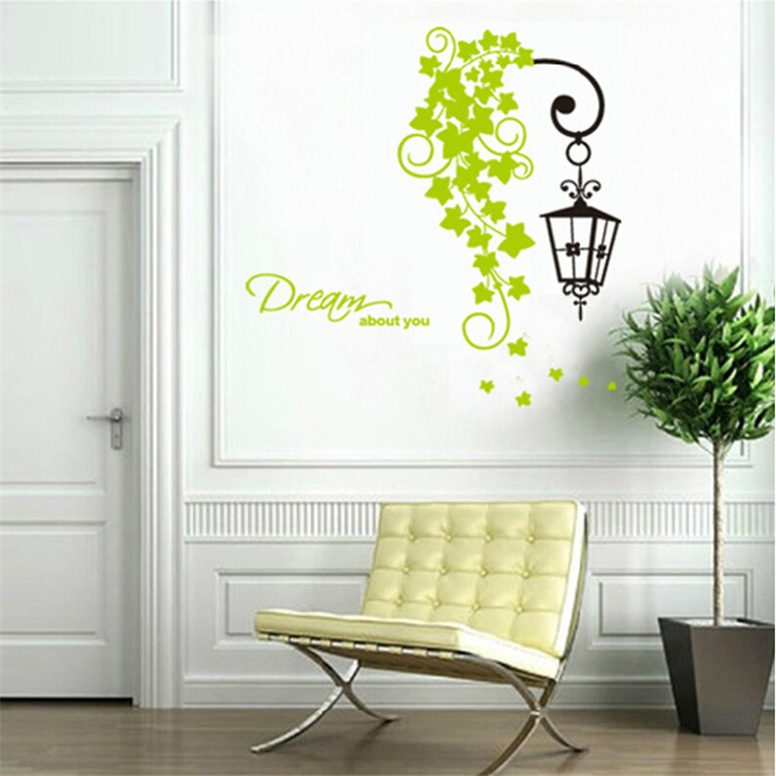 Sticker street lamp cirrus removable wallpaper decal for - Removable wall stickers living room ...
