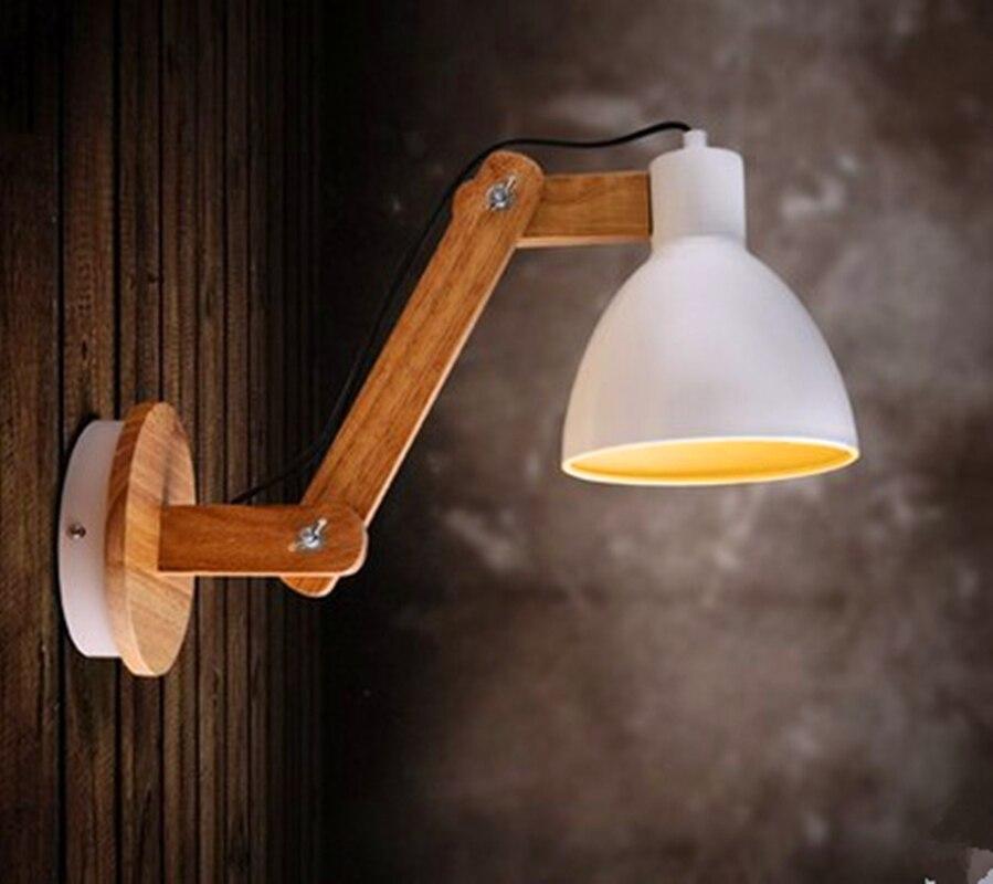Modern Wall Lamp Adjustable Arm Bedside Reading Lamp E27