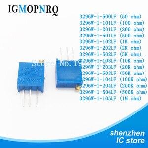 10pcs 3296W 3296 50 100 200 500 ohm 1K 2K 5K 10K 20K 50K 100K 200K 500K 1M ohm 103 100R 200R 500R Trimpot Trimmer Potentiometer(China)