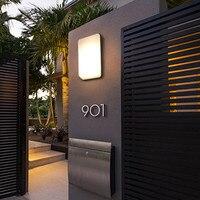 Modern outdoor waterproof LED wall lamp aluminum ultra thin wall lamp villa courtyard waterproof outdoor lighting hotel lighting