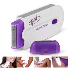 2 в 1 Электрический эпилятор для женщин, удаление волос, безболезненный женский эпилятор, бритва, мгновенный и безболезненный сенсорный светильник, зарядка через USB