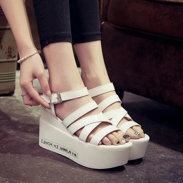 a1a58e0543d8 Women Sandals 2015 Flat Platform Shoes Women Wedge Sandals Platform Sandals  Open Toe Summer Shoes High Heel Sandals 3352-in Women s Sandals from Shoes  on ...