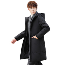 2019 New Arrival Winter Down Jacket Thick High Quality Casual Fashion Long Parkas Winter Jacket Black Coat Brand Men Clothing цены онлайн