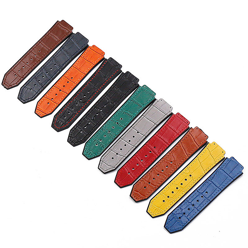 b4482d8a32bd Accesorios de reloj correa de cuero para Hublot serie 19mm x 25mm para los  hombres y de las mujeres casuales de negocios deportes al aire libre de la  correa