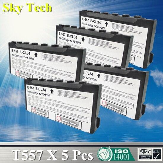 Cartucho de tinta Compatible de calidad para T557, T-557 para Epson PictureMate/Picture Mate 500/PM500, etc.