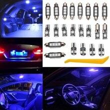 Autoleader 22 Pcs 12 V Azul Decoração Interior Do Carro SMD LEVOU Kit de Luz Styling de carro Para Audi A4 B5 B6 B7 S4 S2 Avant 00-08