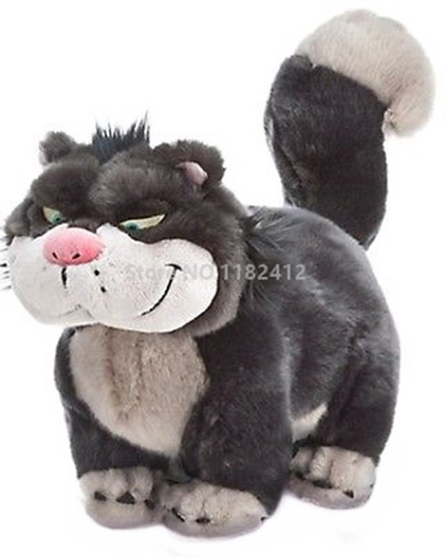 Cute Cinderella Lucifer Cat Plush Toy 30cm 12 Super Soft Grey Cats Stuffed Animals Girls Toys