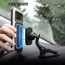 Yianerm Magnetic Phone Holder for Car Dashboard Mount Suction Cup Magnet Holder for iPhone XR XS MAX 8 Plus Samsung S9 Plus GPS car swivel suction cup mount holder for apple htc samsung cellphone