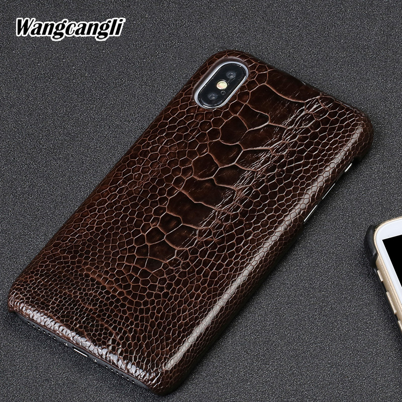 Genuine leather phone case for xiaomi 8 Screen fingerprint style mobile phone case Ostrich foot skin Half pack protective caseGenuine leather phone case for xiaomi 8 Screen fingerprint style mobile phone case Ostrich foot skin Half pack protective case