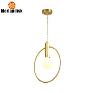 Attractive E27 Gold Ring Hanglamp Pendant Lamp Modern Pendant Lights Dining Room Decoration Indoor Suspension Luminaire(DF-20)