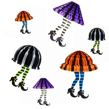 Pack Of 1pc Halloween Decorations Hanging Witch Legs Skirt For Festival Party Home Decor