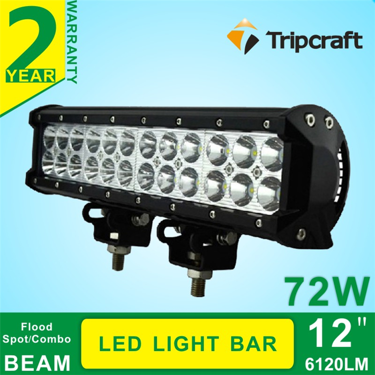 ФОТО 12'' 72w Led Offroad Light Bar Spot Flood beam Off road LED Working Driving light Bar ATV SUV 4WD