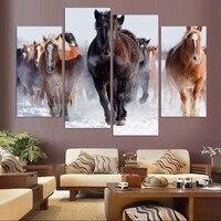 Unframed 4 Stücke Hohe Qualität Billige Art Bilder Running Horse große HD Moderne Home Decor Abstrakte Leinwand Drucken Öl malerei