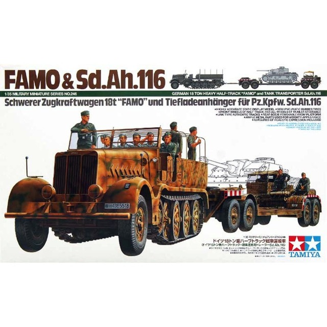 OHS Famo Tamiya 35246 1/35 Alemão 18 t Pesados Meia Pista E tanque de Transporte de Sd Ah 116 AFV Militar Assembléia Modelo Kits de Construção