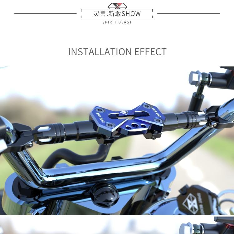 SPIRIT BEAST Motocicletas accesorios modificados manillar manillar - Accesorios y repuestos para motocicletas - foto 4