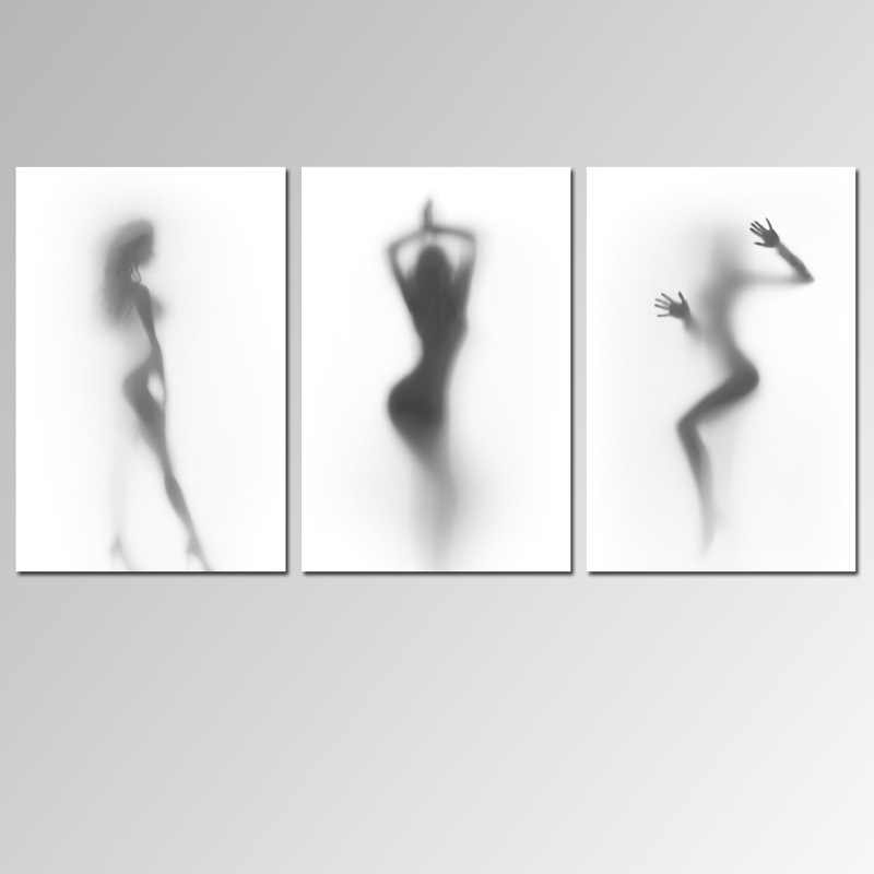 Nordic Minimalist Creative Fuzzy Sexy Woman Decorative Painting Bedroom Hanging Painting Toilet Decor Bathroom Wall Art Kitchen