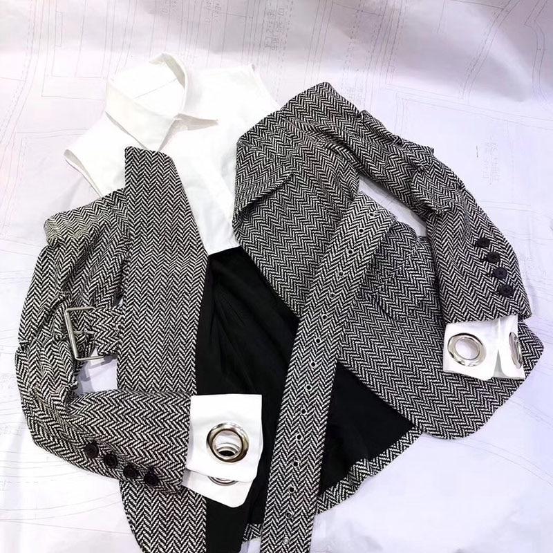 Ceinture Shirt Femmes Manches Casual Tops Longues Feminino Épaule Blusas De Blouse Chemisier Élégant Automne Off OSUqO0p