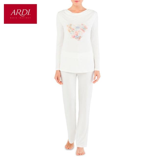 Home Suit Female Pijamas Woman Top Shirt Pantyhose Plus Size White M L XL XXL 40 42 44 46 Free Delivery ARDI R2402-52-1