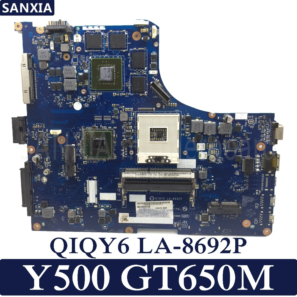 KEFU QIQY6 LA-8692P Laptop motherboard for Lenovo IdeaPad Y500 Test original mainboard GT650M