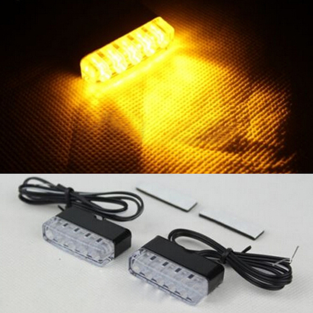High Quality 2pcs Universal Motorcycle Bike Amber LED Turn Signal Indicator Blinker Light