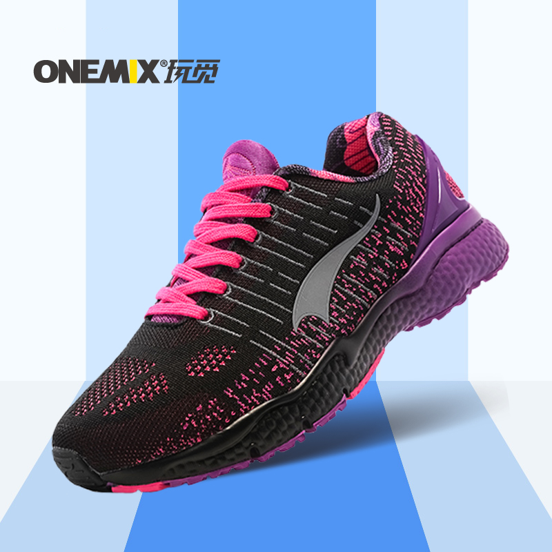 ONEMIX 2016 Women Running Shoes Light Sneakers Breathable Mesh Ladys Sport Sneakers Comfortable Outdoor Walking Shoes size 36-40 hot new 2016 fashion high heeled women casual shoes breathable air mesh outdoor walking sport woman shoes zapatillas mujer 35 40