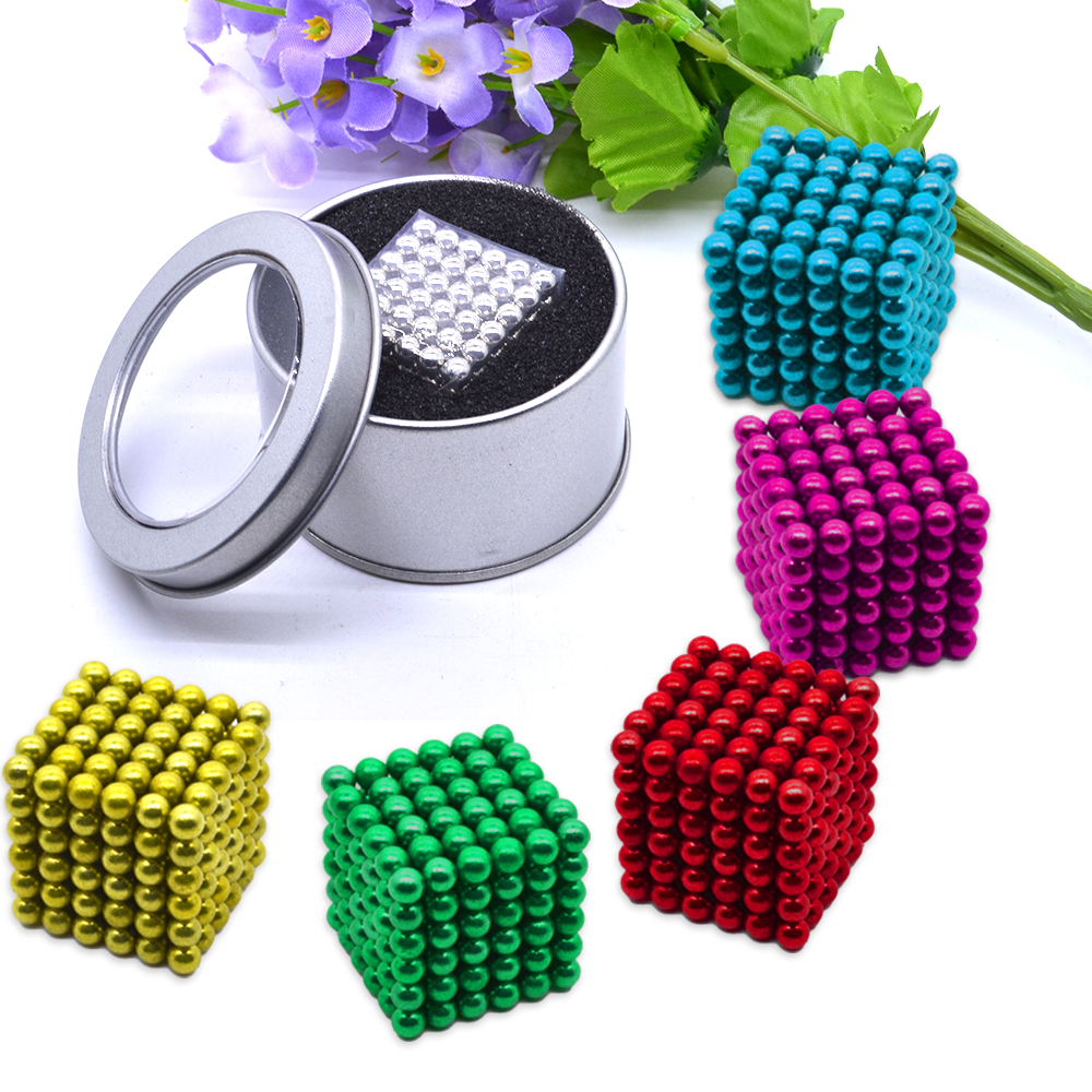 216pcs/pack 5mm Magic Magnetic Ball/ Strong NdFeB DIY Buck Balls/ Neo Cubes Puzzle Magnets new 3d spherical maze magic puzzle ball educational magic intellect ball puzzle balance game magnetic balls for kids 100 steps