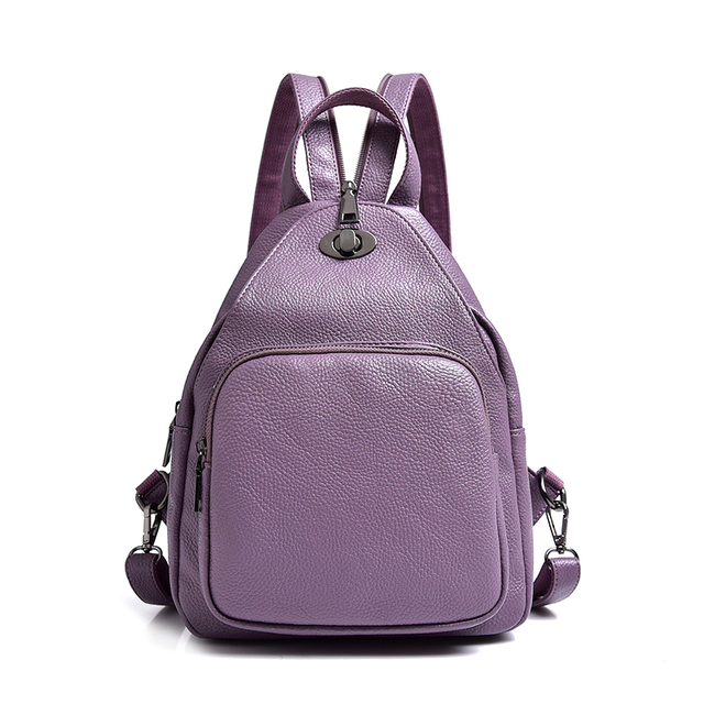 921ed2fbcb Dropshipping High Quality PU Leather Women Backpack Fashion Solid School  Bags For Teenager Girls Casual