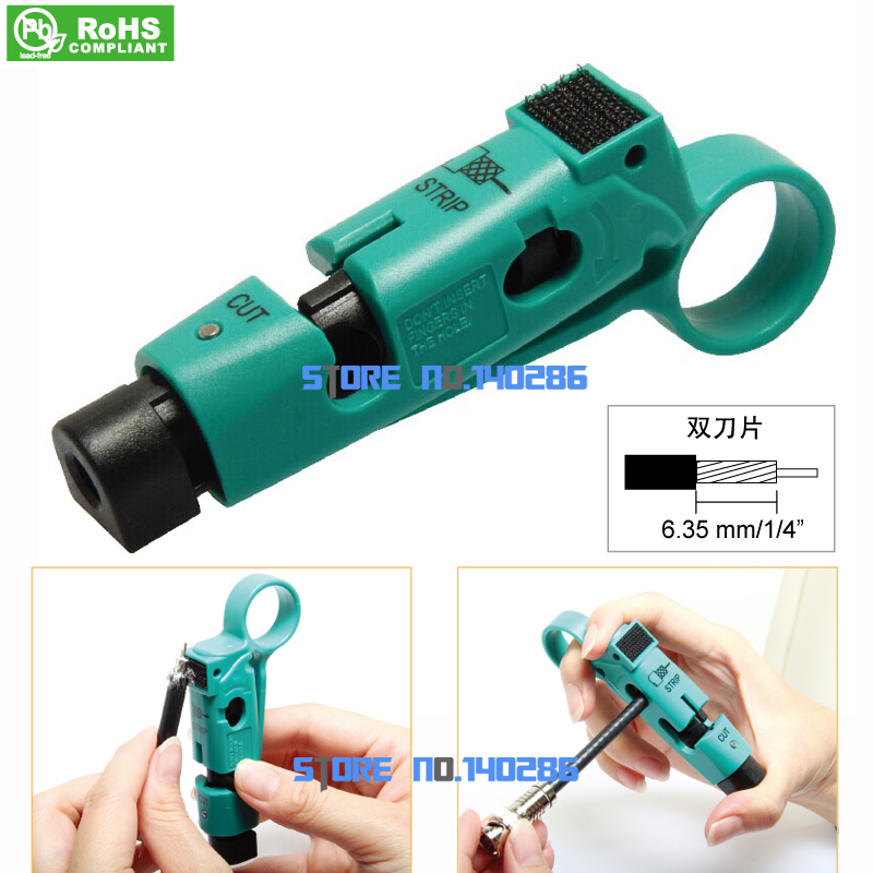 CP-507 Coaxial Cable Wire stripper Fast Wire stripper Stripping knife RG59 RG6 pro skit cp 505 universal strip tool rg 59 6 11 7 cable stripper wire stripper