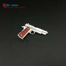 1/6 Silver 45 Pistol M1911 Plastic Model guns model Toy For 12″ Action Figure Doll Toys Accessories Hot Gifts