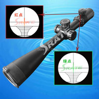 Waterproof airsoft Rifle Scope 10 40x50 Zoom Green Red dot Tactical gun laser sights Hunting Riflescope bow hunt with free mount