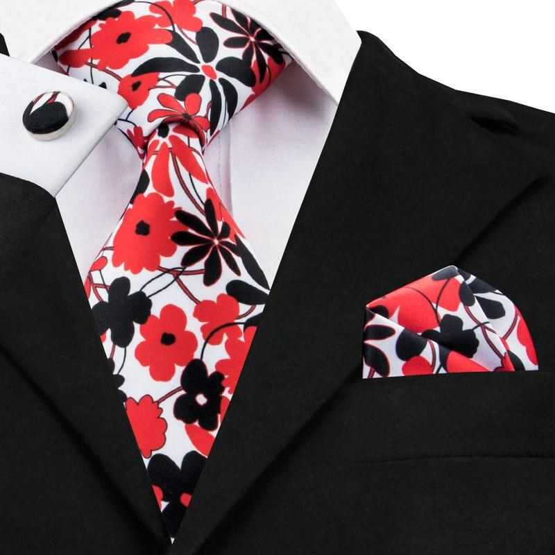 100% QualitäT C-1238 Druck Taschentuch Manschettenknöpfe Krawatten Für Männer Shirt Neueste Grooming Floral Herren Krawatten Krawatte Set Mit Marke Hallo-krawatte Jade Weiß