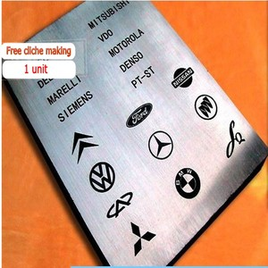 Image 4 - Masaüstü Elektrikli Tampon Yazıcı Makinesi BASKI MAKİNESİ Ürün Tarihi Küçük Logo Baskı + Klişe Plakası + Lastik Pedi