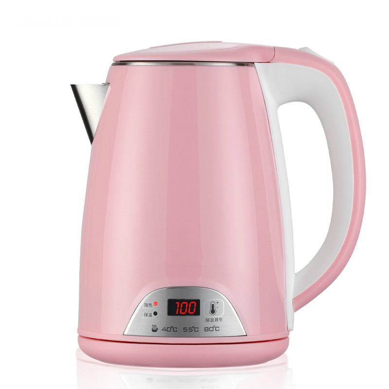 Bubble milk insulation display temperature thermostat 304 stainless steel electric kettle thermostat temperature control kettle top base set socket electric kettle parts