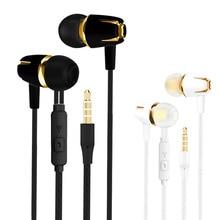 Wired Earphones 3.5mm Plug Earpiece Bass Sports Binaural Hea