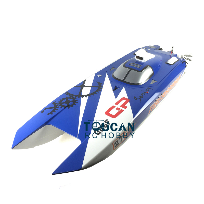 """G30F KIT 50""""Fiber Glass Well panited RC Boat HULL ONLY for Advanced Player Blue TH02700"""