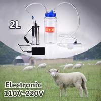 Electric Portable 2L Milking Machine Single Head Milk Vacuum Pump Bucket Milker 0.8 Gal Barrel Sheep Goat Cow Ewe Inflation Tool