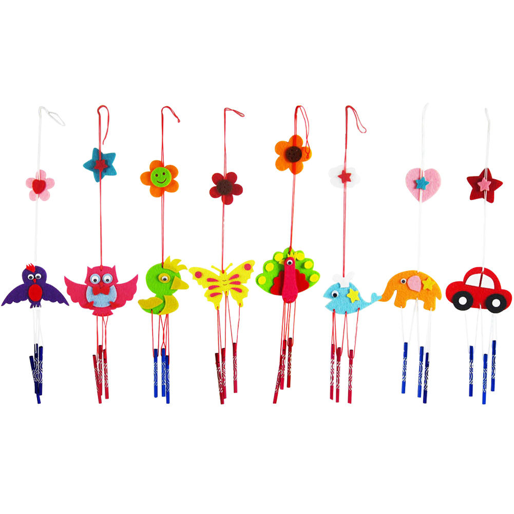 5pcs/lot Puzzle Toy for Kids Campanula Wind Chime Children Kindergarten Manual Arts Crafts Kits DIY Educational Toy Random Color