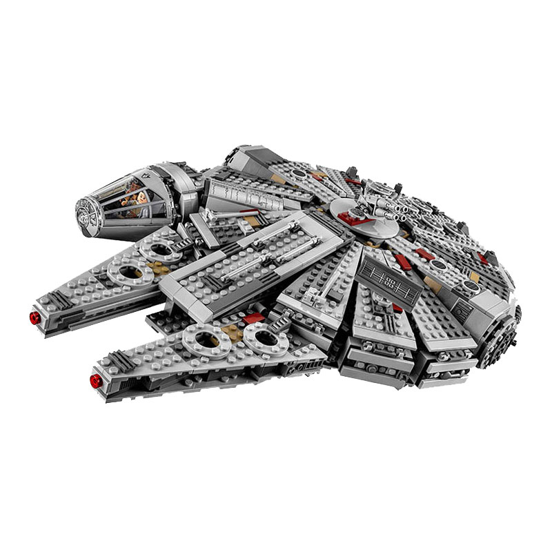 font b lepin b font 1381pcs Star Wars 05007 Millennium Falcon Figure Toys building blocks